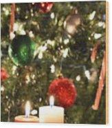 Candles For Christmas 5 Wood Print