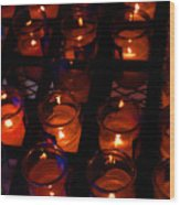 Candles For Mother Maria Wood Print
