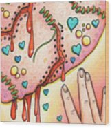 Candy Colored Heartache Wood Print by Amy S Turner