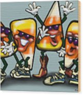 Candy Corn Gang Wood Print