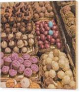 Candy Delights - La Bouqueria - Barcelona Spain Wood Print