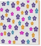 Candy Flower Bright Wood Print