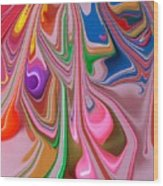 Candy Melt Wood Print