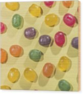 Candy Scattered Wood Print