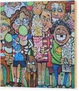 Candy Store Kids Wood Print
