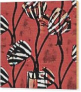 Candy Stripe Tulips 2 Wood Print