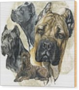 Cane Corso W/ghost Wood Print