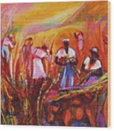 Cane Harvest Wood Print