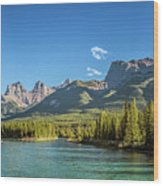 Canmore Alberta Golden Hour Wood Print