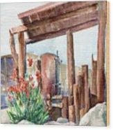 Canna And Boiler Run Wood Print