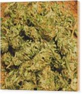 Cannabis Bowl Wood Print