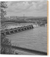 Cannelton Locks And Dam Wood Print