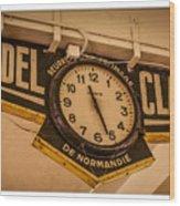 Cannes - Market Clock  Wood Print
