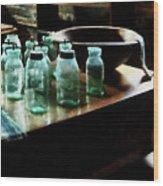 Canning Jars Wood Print by Susan Savad