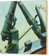 Cannon And Anchor Wood Print