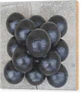Cannon Balls Wood Print