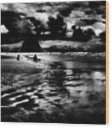 Cannon Beach At Dusk Wood Print