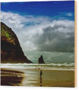 Cannon Beach At Dusk IIi Wood Print