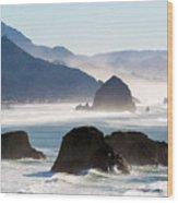 Cannon Beach On The Oregon Coast Wood Print