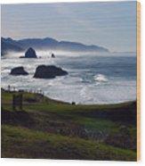 Cannon Beach Oregon Wood Print