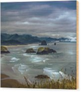 Cannon Beach, Oregon Wood Print