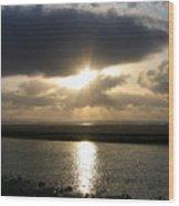 Cannon Beach Sunburst Wood Print