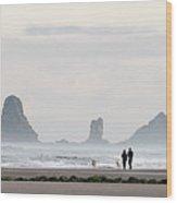 Cannon Beach Walk 6214 Wood Print