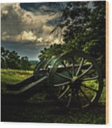 Cannon Encampment Valley Forge Wood Print