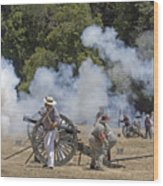 Cannon Fire 1 Wood Print