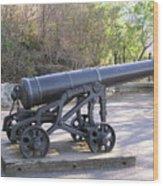 Cannon Wood Print by Richard Mitchell