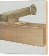 Cannon-shaped Ballot Box Wood Print