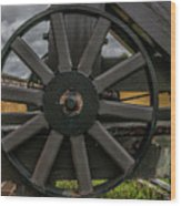 Cannon Wheel Wood Print