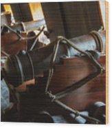 Cannons Below Wood Print