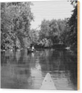 Canoe Joy Wood Print