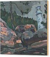 Canoe Lake Light Wood Print