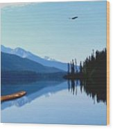 Canoe Lake Wood Print