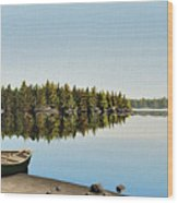 Canoe The Massassauga Wood Print