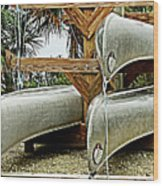 Canoes At Canaveral National Seashore Wood Print