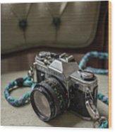 Canon Ae-1 Film Camera Wood Print