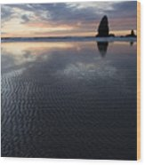 Canon Beach At Sunset 6 Wood Print