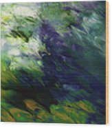 Canopy 3- Art By Linda Woods Wood Print