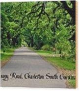 Canopy Road Wood Print