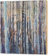 Can't See The Forest Wood Print