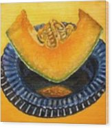 Cantaloupe Oil Painting Wood Print