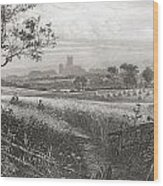 Canterbury, Kent, England Seen From Wood Print