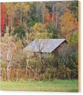 Cantilever Barn - Autumn Wood Print