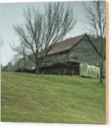 Cantilever Barn Sevier County Tennessee Wood Print