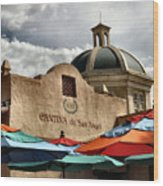 Cantina De San Angel Wood Print