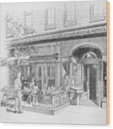 Cantina Restaurant In Saratoga Springs Ny Storefront Wood Print
