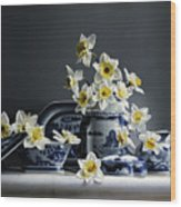 Canton With Daffodils Wood Print